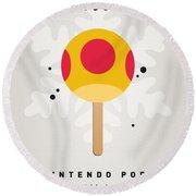 My Nintendo Ice Pop - Mega Mushroom Round Beach Towel