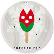 My Nintendo Ice Pop - Piranha Plant Round Beach Towel