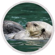 My Otter II Round Beach Towel