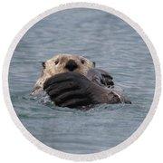 My Otter Round Beach Towel