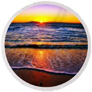 My Peaceful Place Round Beach Towel