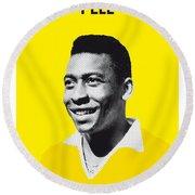 My Pele Soccer Legend Poster Round Beach Towel