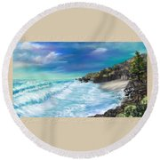 My Private Ocean Round Beach Towel