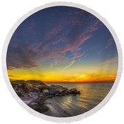 My Quiet Place Round Beach Towel