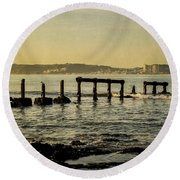 My Sea Of Ruins II Round Beach Towel by Marco Oliveira