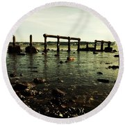 My Sea Of Ruins Round Beach Towel by Marco Oliveira