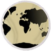 My #3 Simple World Round Beach Towel