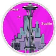 My Sleepless In Seattle Movie Poster Round Beach Towel