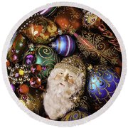My Special Christmas Ornaments Round Beach Towel