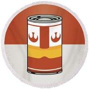 My Star Warhols Luke Skywalker Minimal Can Poster Round Beach Towel