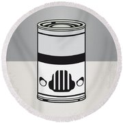 My Star Warhols Stormtrooper Minimal Can Poster Round Beach Towel