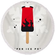 My Superhero Ice Pop - Hellboy Round Beach Towel