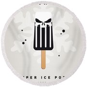 My Superhero Ice Pop - The Punisher Round Beach Towel