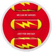 My Superhero Pills - The Flash Round Beach Towel