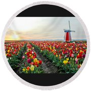 My Touch Of Holland 2 Round Beach Towel