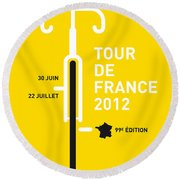 My Tour De France 2012 Minimal Poster Round Beach Towel