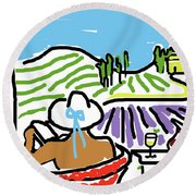 My Tuscany Dream 2 Round Beach Towel