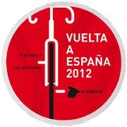 My Vuelta A Espana Minimal Poster Round Beach Towel by Chungkong Art
