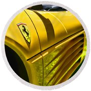My Yellow Ferrari Round Beach Towel
