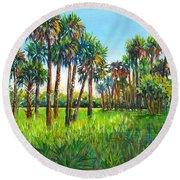 Myakka Palms Round Beach Towel