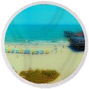 Myrtle Beach South Carolina Round Beach Towel