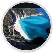 Myrtos Round Beach Towel