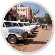 Mysore Taxis Round Beach Towel