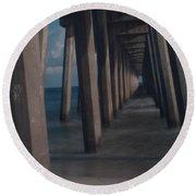 Myst Under The Pier Round Beach Towel