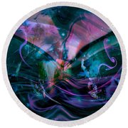 Mysteries Of The Universe Round Beach Towel
