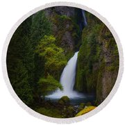 Mysteries Of Wahclella Round Beach Towel