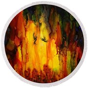 Mysterious Cave Round Beach Towel
