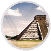 Mysterious Chichen Itza Round Beach Towel