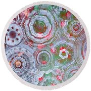 Mysterious Circles 3 Round Beach Towel