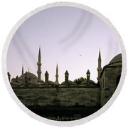 Mysterious Istanbul Round Beach Towel
