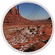 Mysterious Red Rocks Round Beach Towel