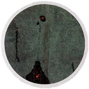 Mysterious Wall Round Beach Towel