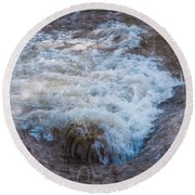 Mysterious Wave Round Beach Towel