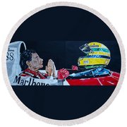 Mystic Ayrton Senna Round Beach Towel