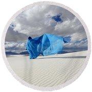 Mystic Blue 11 Round Beach Towel