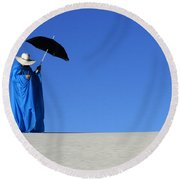 Mystic Blue 6 Round Beach Towel