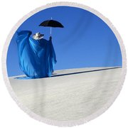 Mystic Blue 7 Round Beach Towel