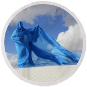Mystic Blue 9 Round Beach Towel
