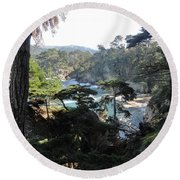 Mystic Bridge Round Beach Towel