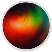 Mystic Colors Round Beach Towel