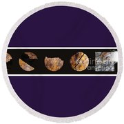 Mystic Fractures Iv Round Beach Towel