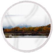 Mystic Grand Teton  Round Beach Towel