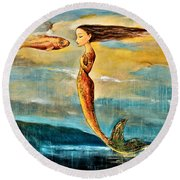 Mystic Mermaid IIi Round Beach Towel