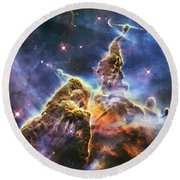 Mystic Mountain Round Beach Towel