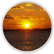 Mystic Sunset Round Beach Towel