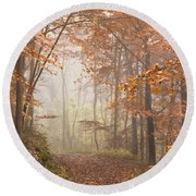 Mystic Woods Round Beach Towel